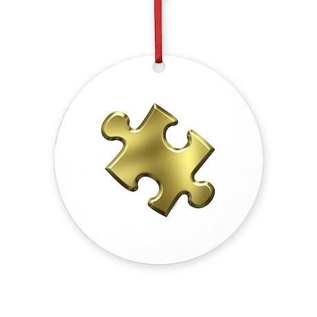 Puzzle Piece Ala Carte 1.3 (Gold) Ornament (Round)