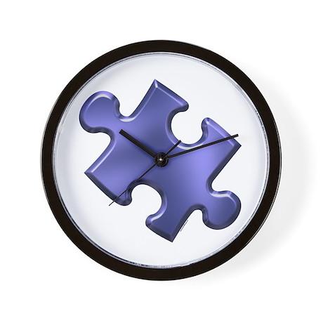 Puzzle Piece Ala Carte 1.4 (Blue) Wall Clock