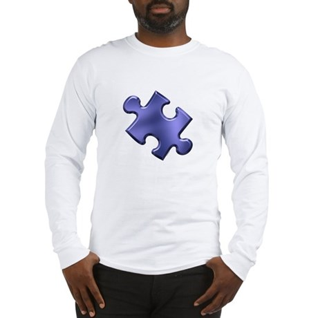 Puzzle Piece Ala Carte 1.4 (Blue) Long Sleeve T-Sh