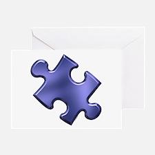 Puzzle Piece Ala Carte 1.4 (Blue) Greeting Card