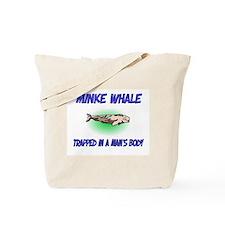 Minke Whale Trapped In A Man's Body Tote Bag