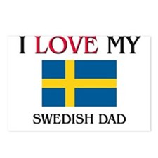 I Love My Swedish Dad Postcards (Package of 8)