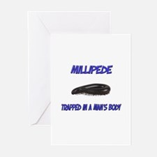 Millipede Trapped In A Man's Body Greeting Cards (