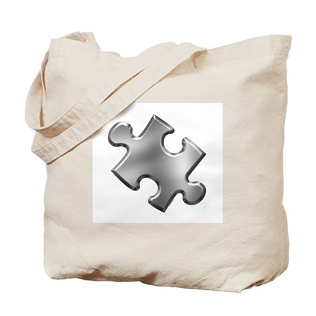 Puzzle Piece Ala Carte 1.5 (Silver) Tote Bag