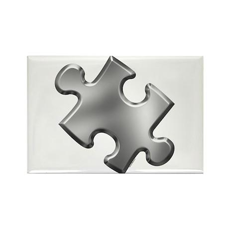 Puzzle Piece Ala Carte 1.5 (Silver) Rectangle Magn