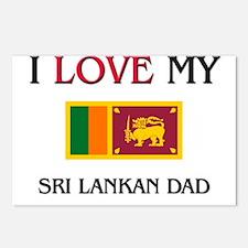 I Love My Sri Lankan Dad Postcards (Package of 8)
