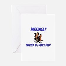 Meerkat Trapped In A Man's Body Greeting Cards (Pk