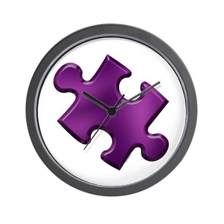 Puzzle Piece Ala Carte 1.6 (Purple) Wall Clock