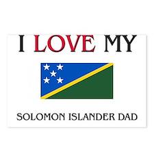 I Love My Solomon Islander Dad Postcards (Package