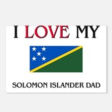 I Love My Solomon Islander Dad Postcards (Package