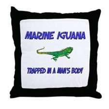 Marine Iguana Trapped In A Man's Body Throw Pillow