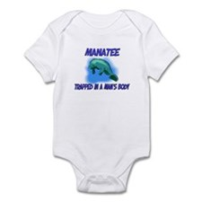Manatee Trapped In A Man's Body Infant Bodysuit