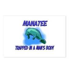 Manatee Trapped In A Man's Body Postcards (Package
