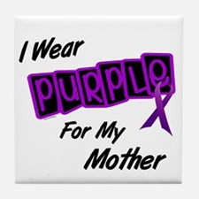 I Wear Purple 8 (Mother) Tile Coaster