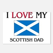 I Love My Scottish Dad Postcards (Package of 8)