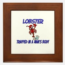 Lobster Trapped In A Man's Body Framed Tile