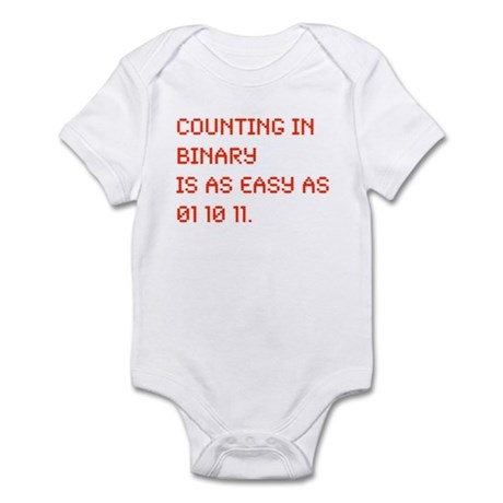 Counting in Binary Infant Bodysuit