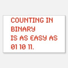 Counting in Binary Rectangle Decal