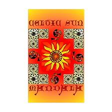 Celtic Sun Mandala Rectangle Decal