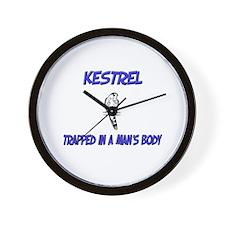 Kestrel Trapped In A Man's Body Wall Clock