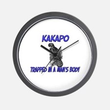 Kakapo Trapped In A Man's Body Wall Clock