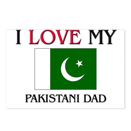 I Love My Pakistani Dad Postcards (Package of 8)