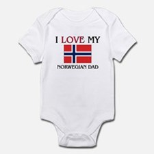 I Love My Norwegian Dad Infant Bodysuit