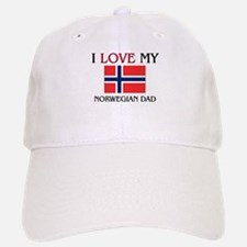 I Love My Norwegian Dad Baseball Baseball Cap