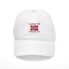 I Love My Norwegian Dad Baseball Cap