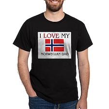 I Love My Norwegian Dad T-Shirt