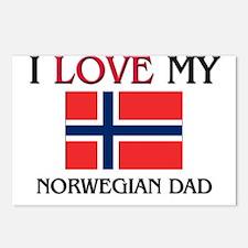 I Love My Norwegian Dad Postcards (Package of 8)