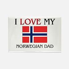 I Love My Norwegian Dad Rectangle Magnet