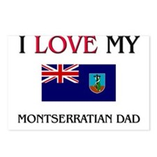 I Love My Montserratian Dad Postcards (Package of