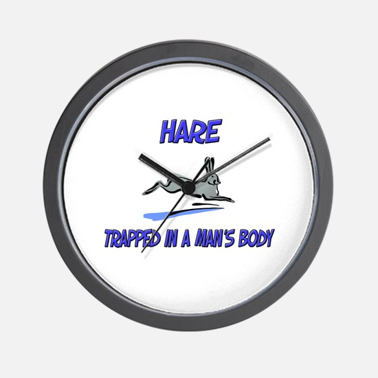 Hare Trapped In A Man's Body Wall Clock