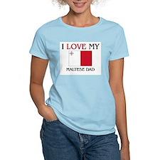 I Love My Maltese Dad T-Shirt