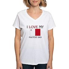 I Love My Maltese Dad Shirt
