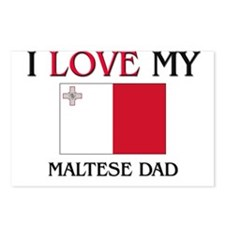 I Love My Maltese Dad Postcards (Package of 8)