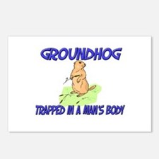 Groundhog Trapped In A Man's Body Postcards (Packa