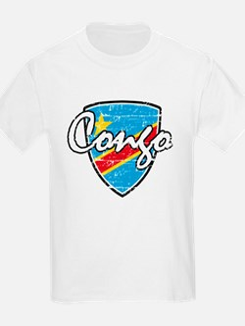 Congo distressed Flag T-Shirt