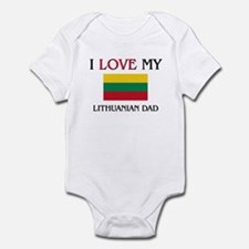 I Love My Lithuanian Dad Infant Bodysuit