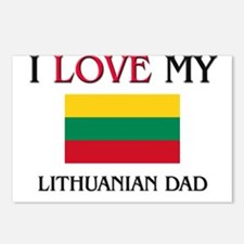 I Love My Lithuanian Dad Postcards (Package of 8)