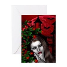 GOTHIC ROSE Greeting Card