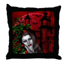 GOTHIC ROSE Throw Pillow