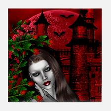 GOTHIC ROSE Tile Coaster