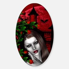 GOTHIC ROSE Oval Decal