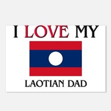 I Love My Laotian Dad Postcards (Package of 8)