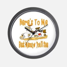 Cheers For Memaw Wall Clock