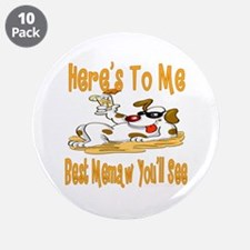 "Cheers For Memaw 3.5"" Button (10 pack)"
