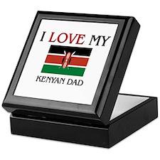 I Love My Kenyan Dad Keepsake Box