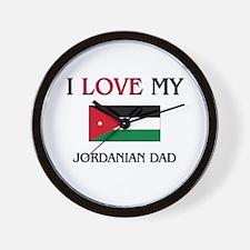 I Love My Jordanian Dad Wall Clock